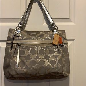 COACH Poppy Metallic Glam Tote